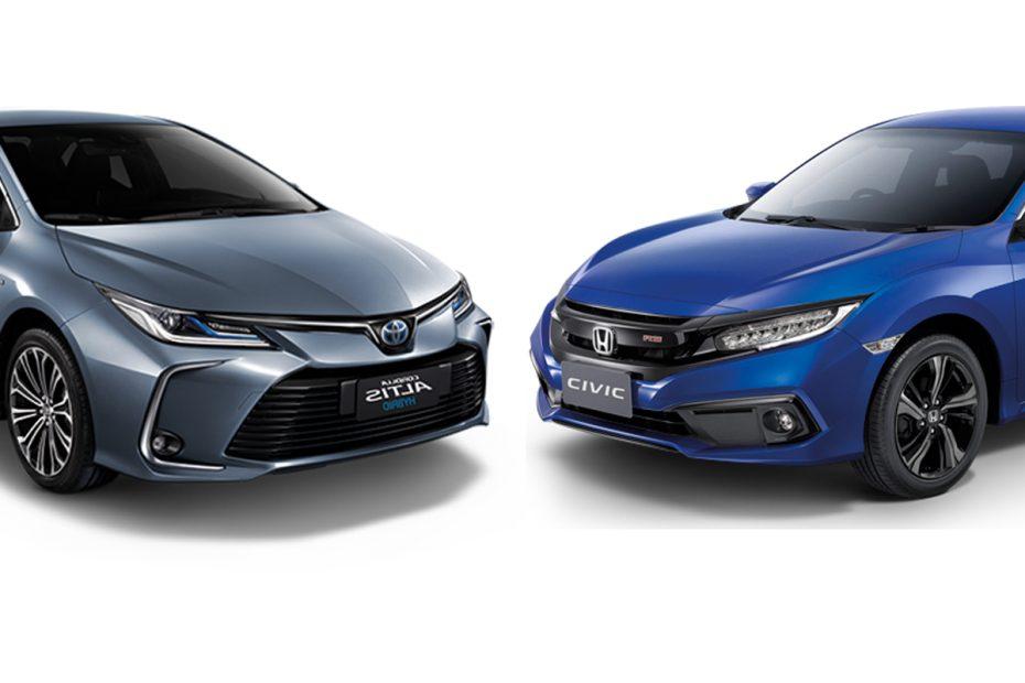 ็Toyota Altis vs Honda Civic 2020 ฮอนด้า โตโยต้า