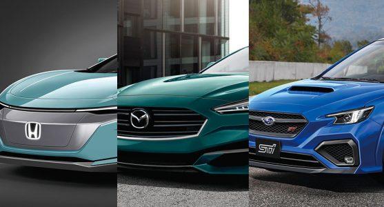 สรุปความเคลื่อนไหว 3 ค่ายดังจากแดนปลาดิบ Honda, Mazda และ Subaru