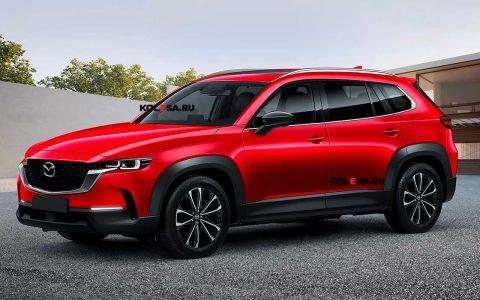เรนเดอร์แรกอย่างไม่เป็นทางการของ Mazda CX-60